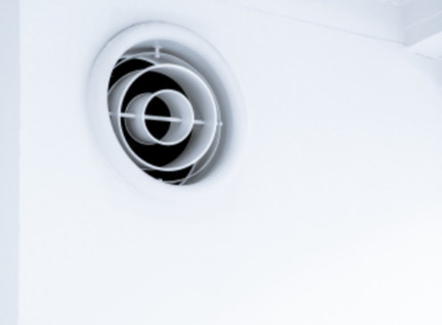 close up of vent opening on equipment