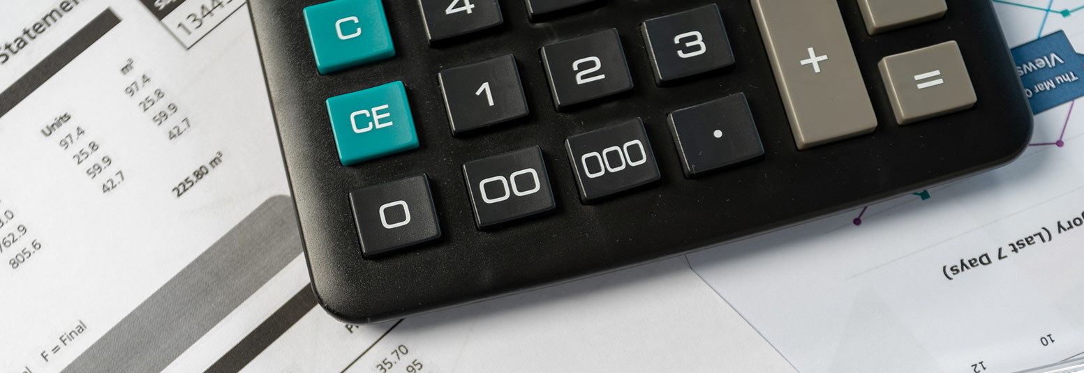 bottom part of calculator on top of statements